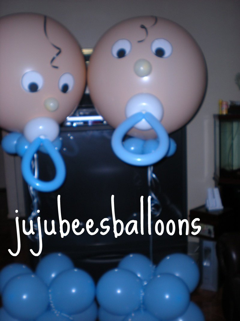 Baptism sculptures for Baby shower decoration ideas with balloons